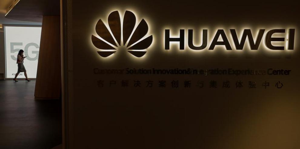Logo de la firma china Huawei.