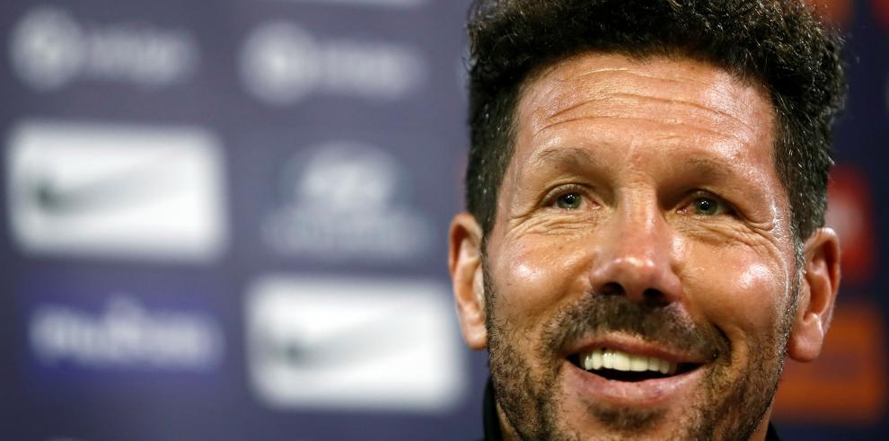 El entrenador argentino del Atlético de Madrid Diego Pablo