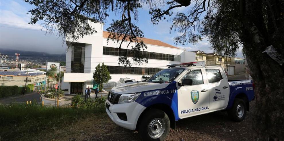 Vista general del edificio de la Misión de Apoyo Contra la Corrupción y la Impunidad en Honduras (Maccih)