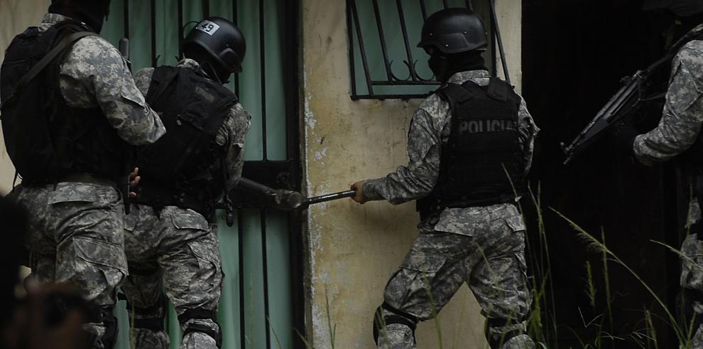 Operativo de la Policía Nacional de Panamá