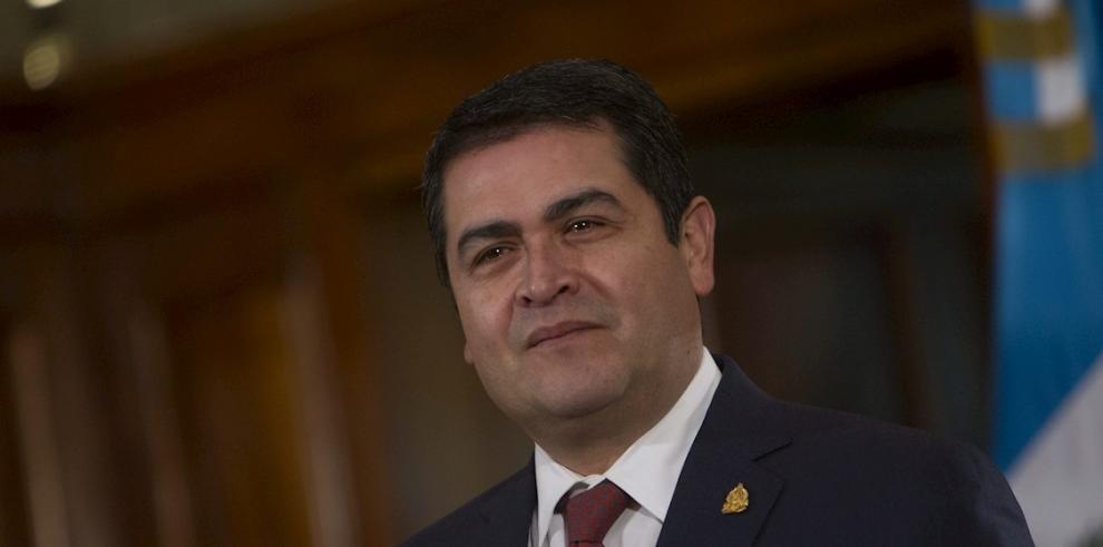 En la imagen un registro del presidente de Honduras, Juan Orlando Hernández.