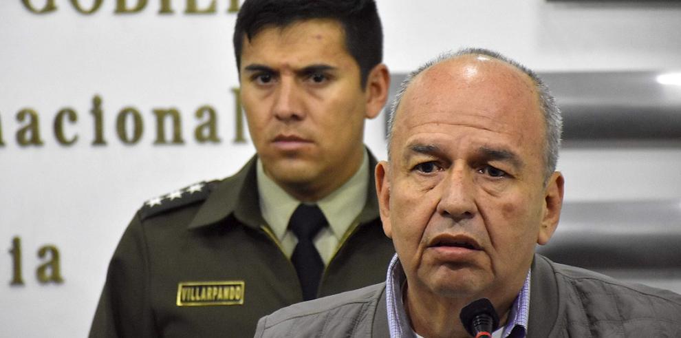 En la imagen, el ministro interino de Gobierno (Interior) de Bolivia, Arturo Murillo.