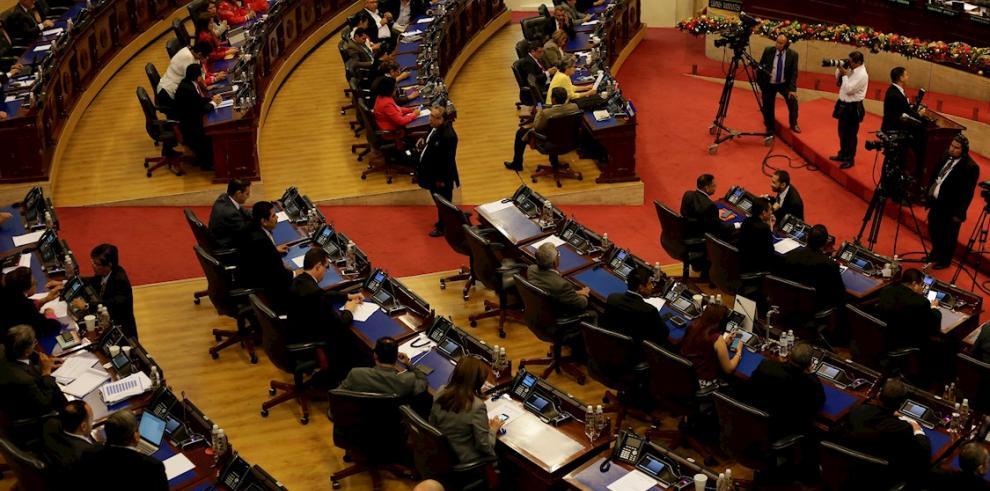 Vista general de la Asamblea Legislativa, en San Salvador (El Salvador).