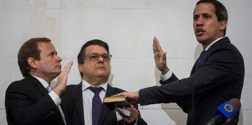 El líder opositor Juan Guaidó