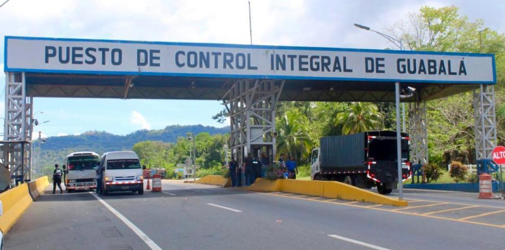 puesto de control de Guabalá, en la provincia de Chiriquí.