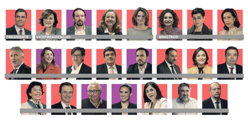 El primer Gobierno de coalición de la democracia española será paritario, formado por once hombres y once mujeres, más el presidente.
