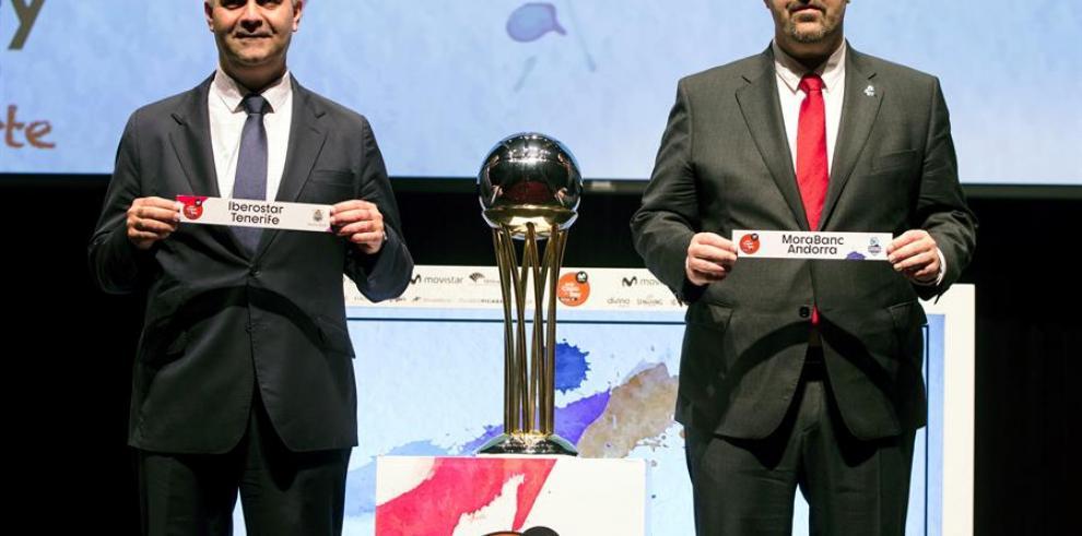 Sorteo de emparejamientos para los cuartos de final de la Copa del Rey de baloncesto.