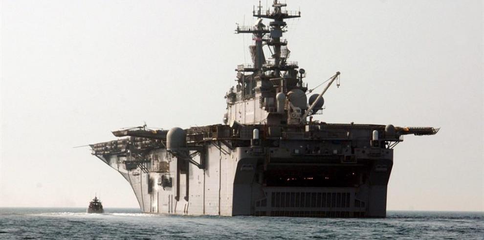 Un navío estadounidense durante su viaje al Golfo de Pérsico.