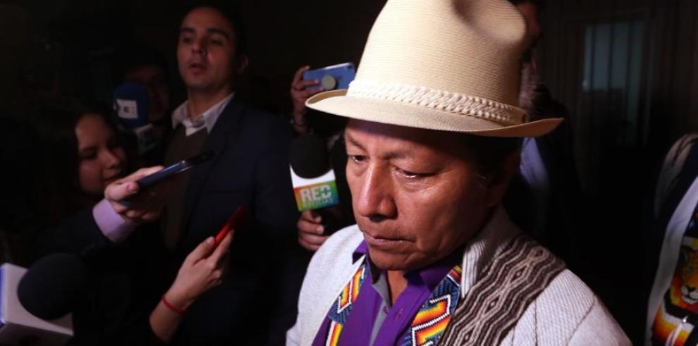 En la imagen el senador colombiano Feliciano Valencia