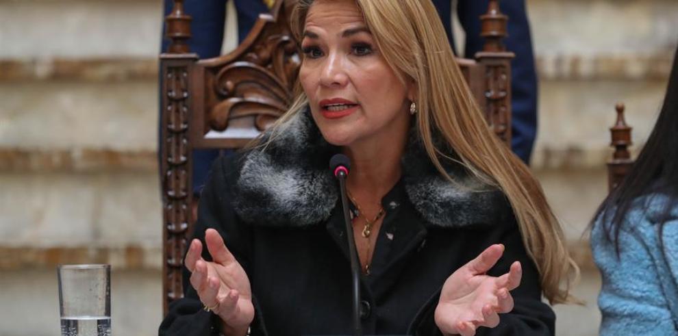 Jeanine Áñez, presidente del Gobierno de facto en Bolivia.