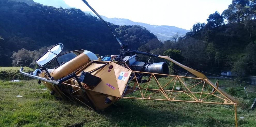 La nave cayó en un terreno agrícola en la provincia de Chiriquí