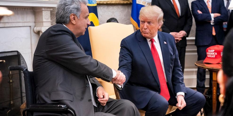 Presidente de los Estados Unidos, Donadl Trump (d) y el presidente de Ecuardor, Lenin Moreno (i).