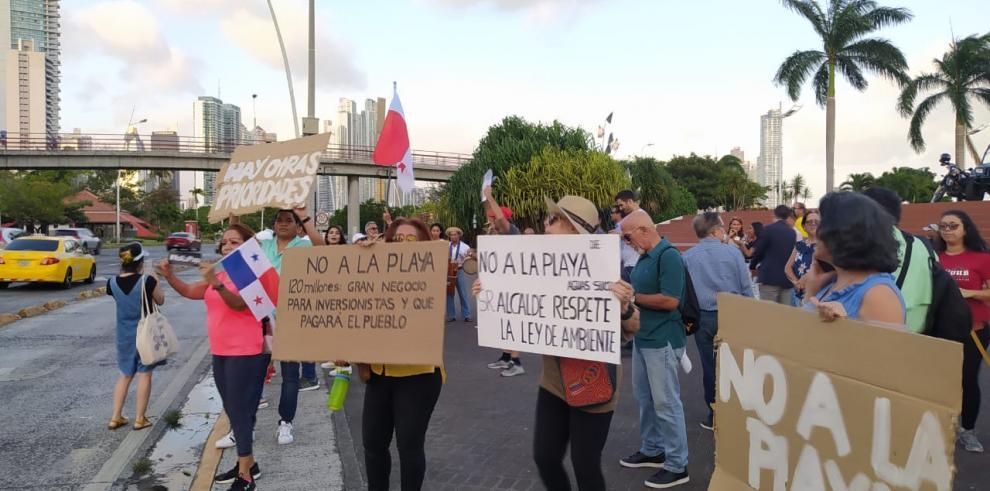 Protesta playa