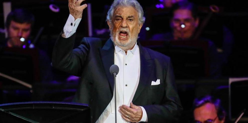 El tenor español Placido Domingo en un concierto en el City Hall en Moscú, Rusia.