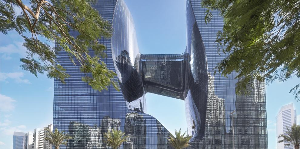 El ME Dubai  está ubicado en el espectacular edificio The Opus by Omniyat,
