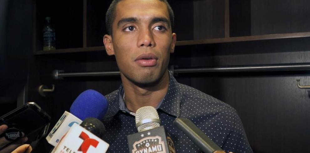 El delantero del Dynamo de Houston, el colombiano Mauro Manotas.
