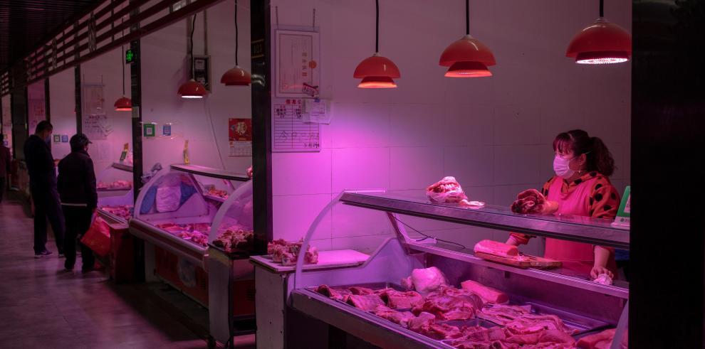 Mercado de carne en Japón