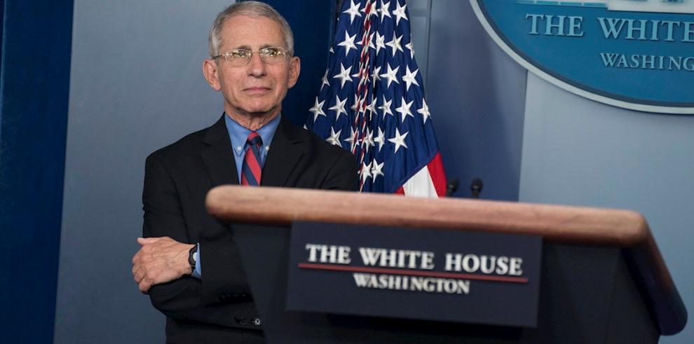 El principal epidemiólogo del Gobierno de Estados Unidos, Anthony Fauci, durante una rueda de prensa en Washington.