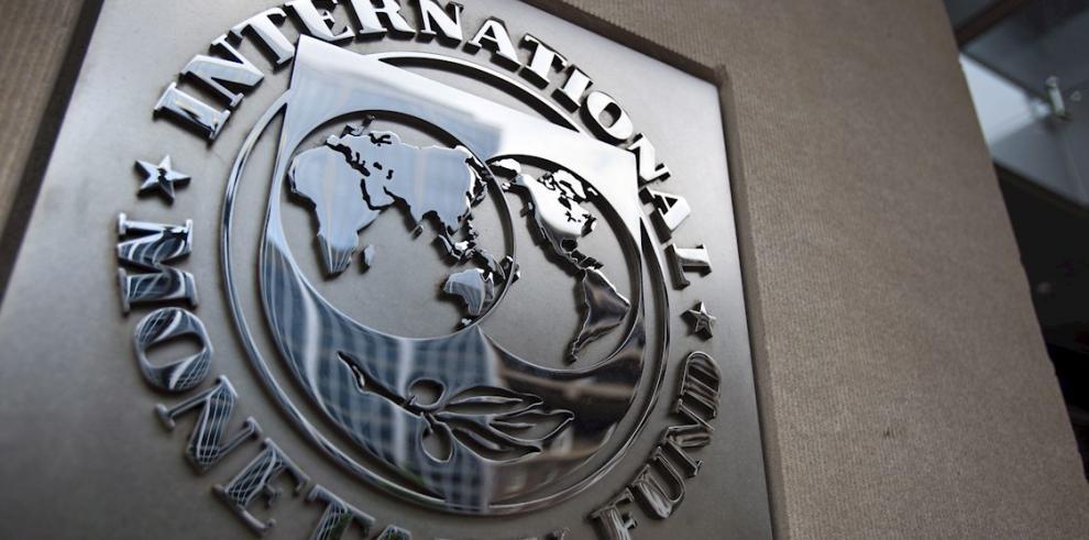 En la imagen el logotipo del Fondo Monetario Internacional (FMI).
