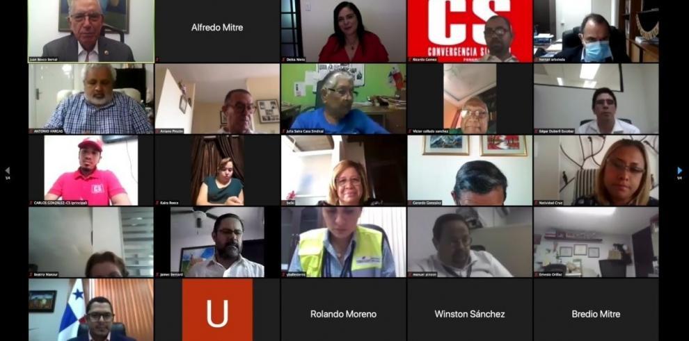 Reunión virtual de la mesa tripartita económica y laboral