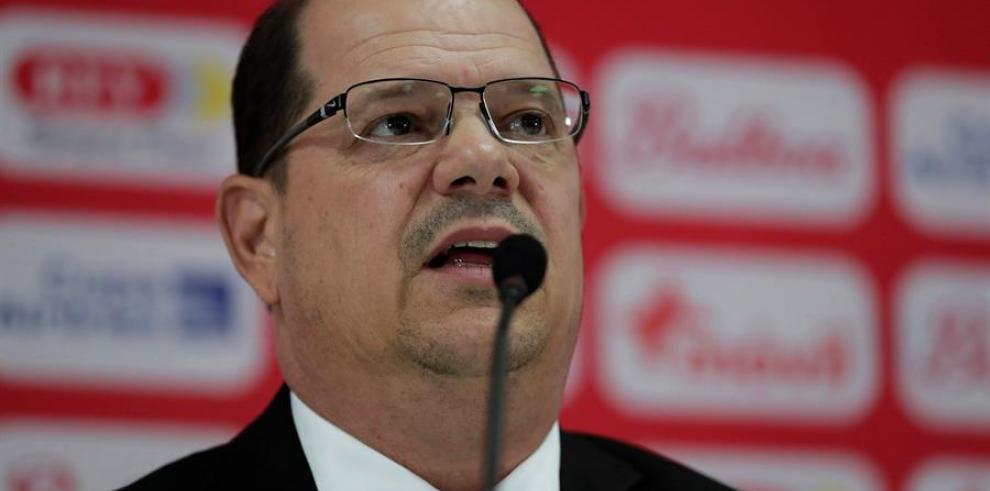 El presidente de la Federación Panameña de Fútbol (Fepafut), Manuel Arias.