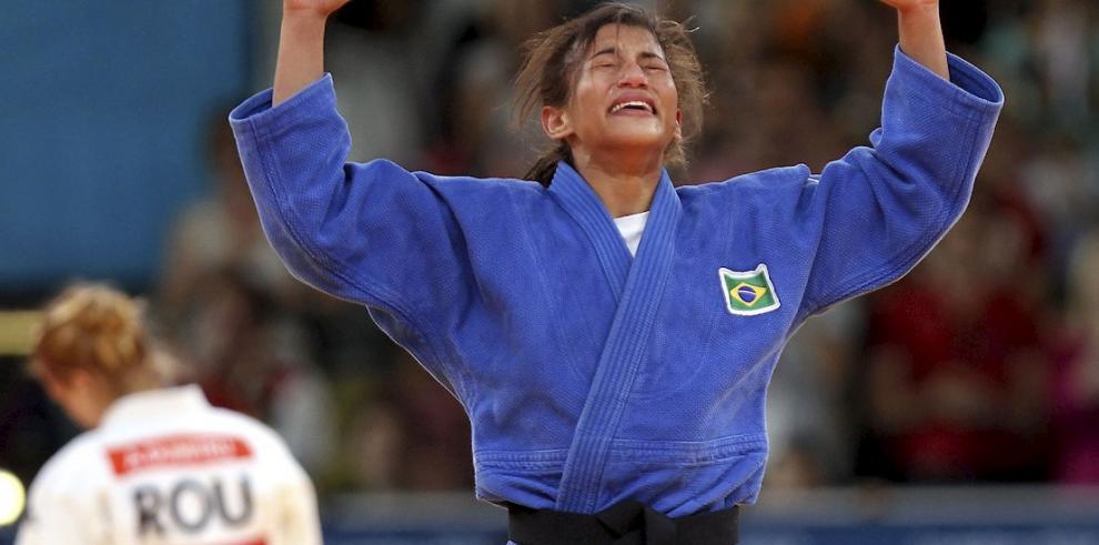 Sarah Menezes, la primera judoca brasileña en ganar oro en unos JJOO.