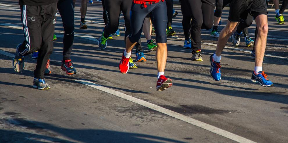 Maratón- caminata- carrera