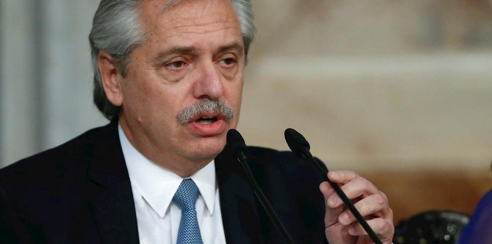 El presidente argentino, Alberto Fernández (Archivo).