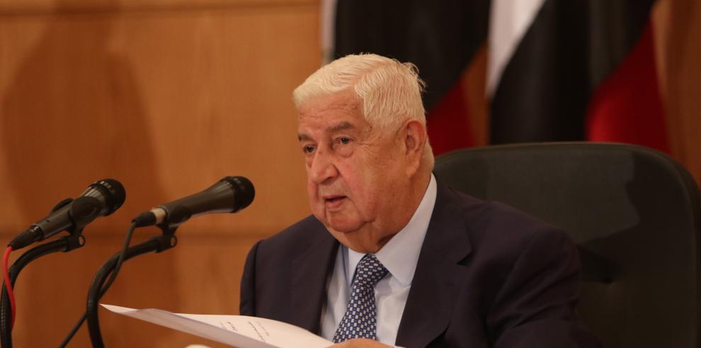 El ministro sirio de Asuntos Exteriores, Walid al-Moallem.
