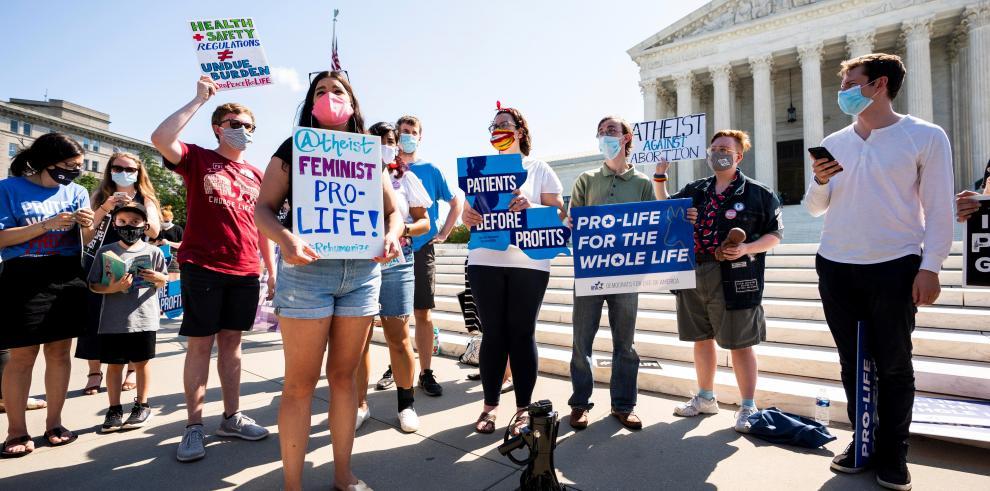 Manifestantes contra el aborto  en EEUU