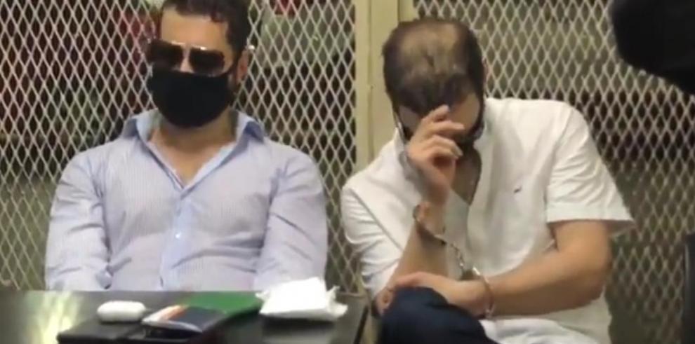 Los hermanos Martinelli Linares tras su detención en Ciudad de Guatemala