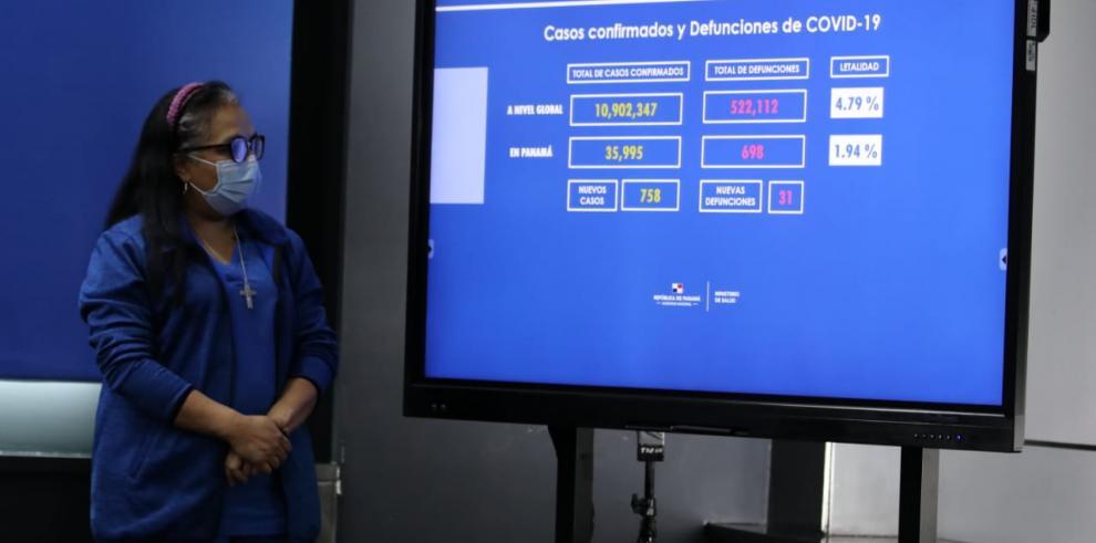 Lourdes Moreno, jefa de epidemiología del MINSA.