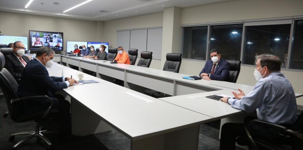 Presidente Cortizo recibe informe del  Centro Nacional para el Control y Trazabilidad Covid-19