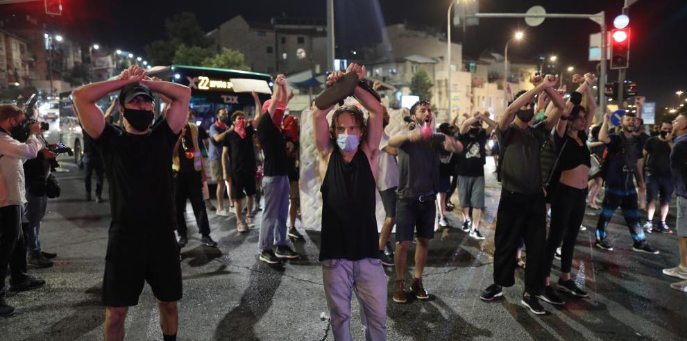 Protestas en Israel por la covid-19