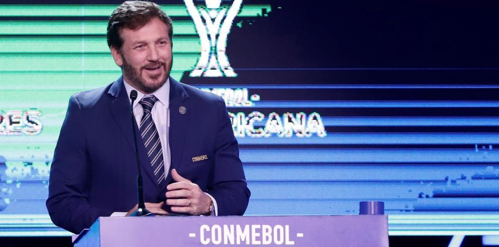 El presidente de la Conmebol, Alejandro Domínguez.