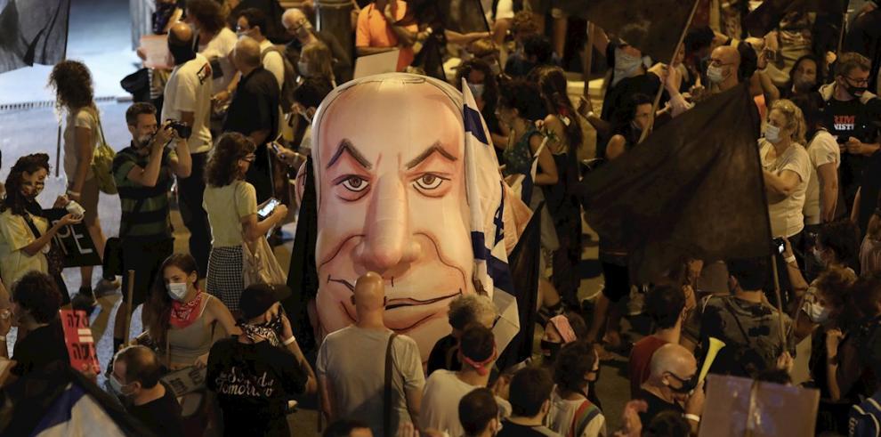 Benjamin Netanyahu protestas