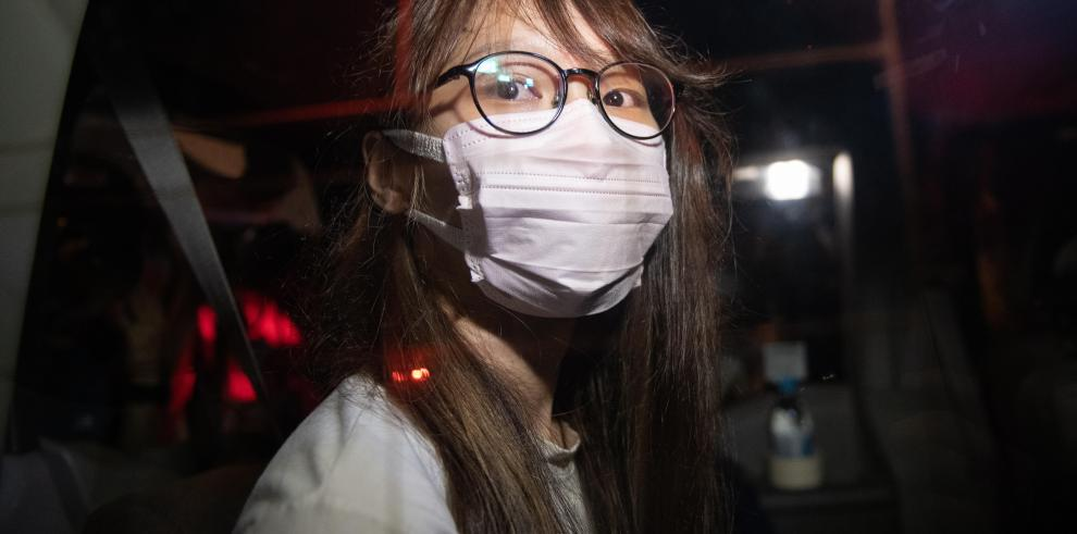 la activista prodemocrática Agnes Chow