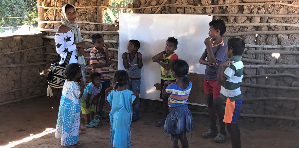 Niños indígena wayuu