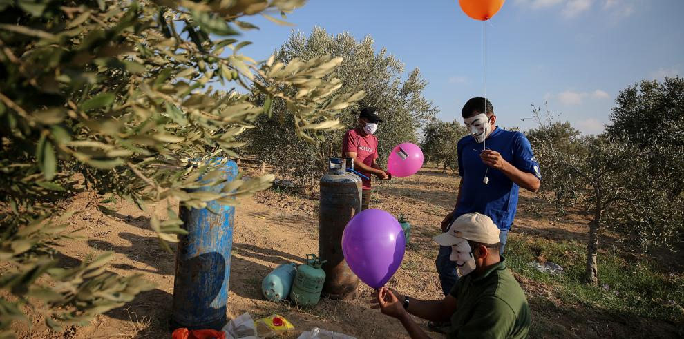 Envió de globos de fuego en Gaza