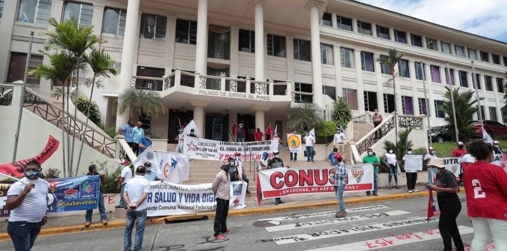 Trabajadores organizados en la CSJ