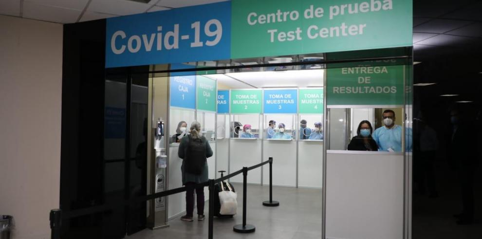 Centro de pruebas covid-19 en el Aeropuerto de Tocumen