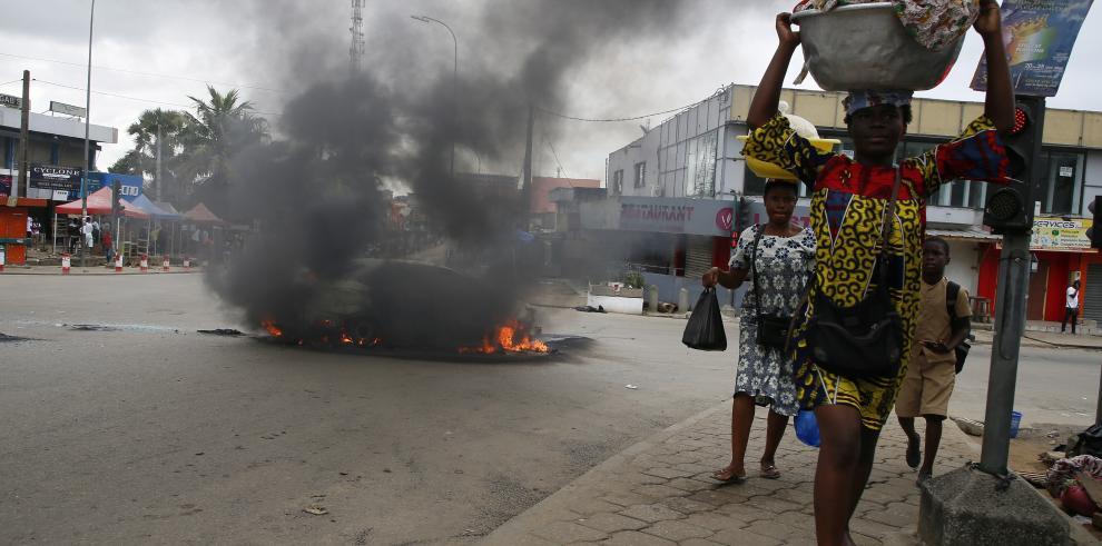 Protesta en Costa de Marfil