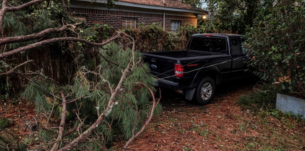 Paso del huracán Zeta en Mobile, Alabama, EE.UU