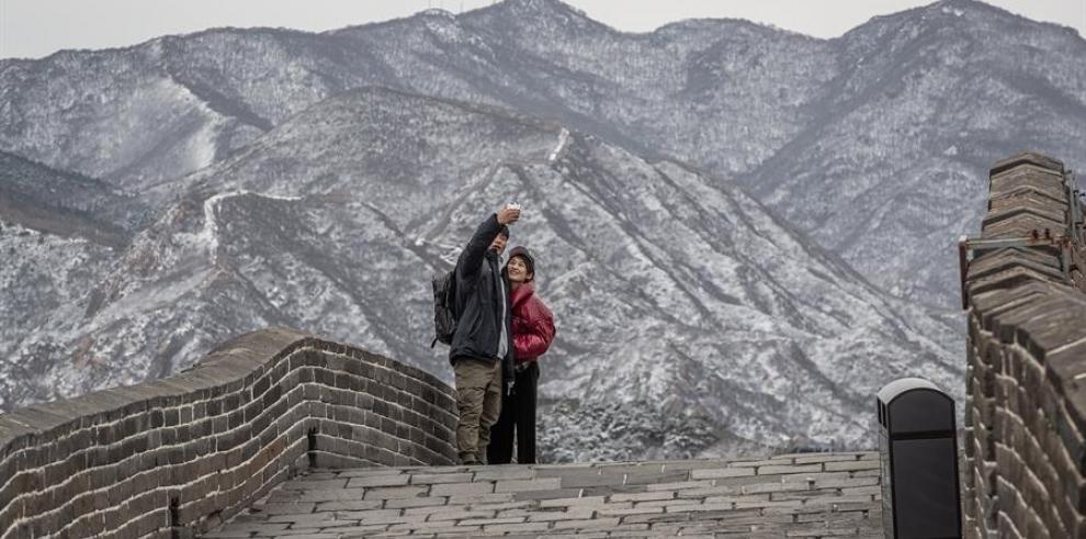 Turistas en la Gran Muralla de China.