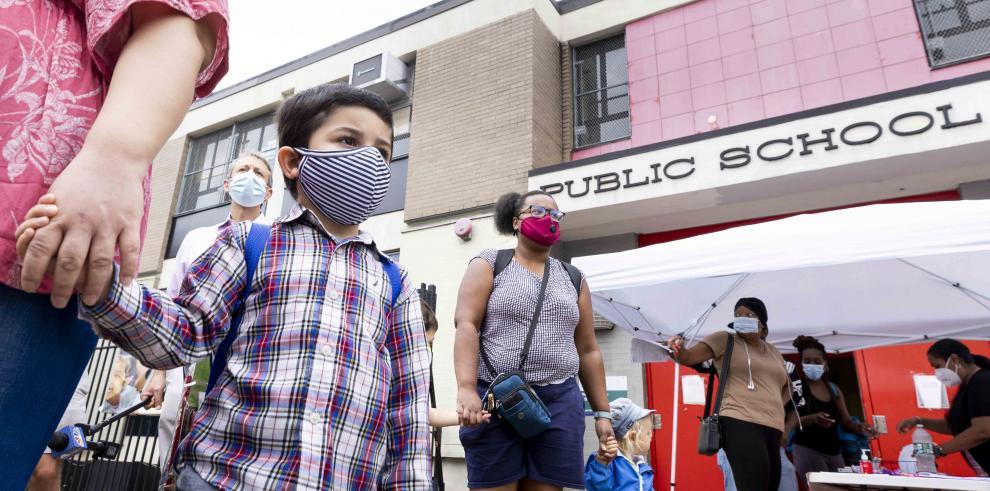 Estudiantes de escuelas públicas de Nueva York
