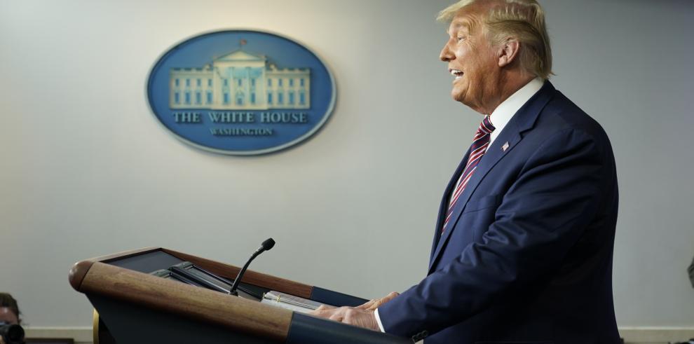 El presidente saliente de EE.UU., Donald Trump