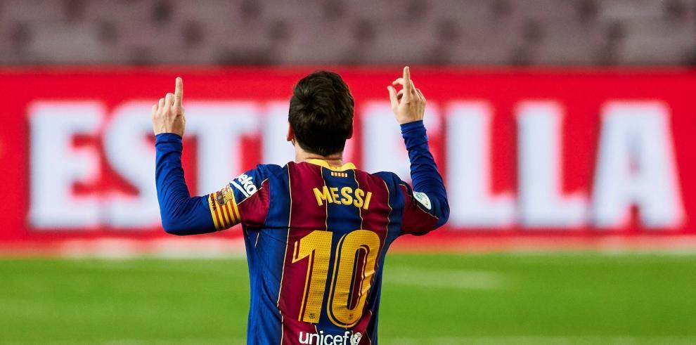 El delantero argentino del Barcelona Leo Messi