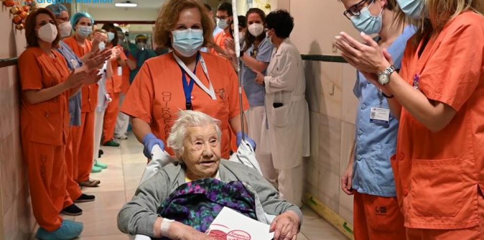 paciente española de 104 años