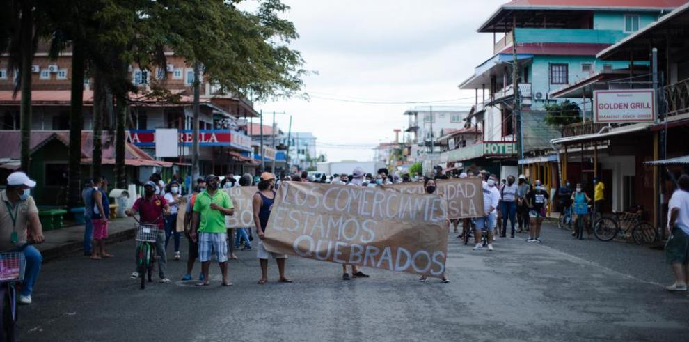 Marcha pacífica en isla Colón, Bocas del Toro