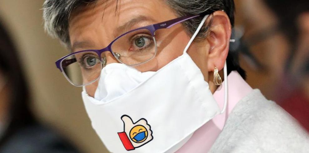 La alcaldesa de Bogotá Claudia López